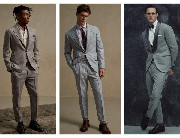 full body shot of man model 600x460 - Brunello Cucinelli 冬季男女装系列,开辟新风格织造时间的艺术!