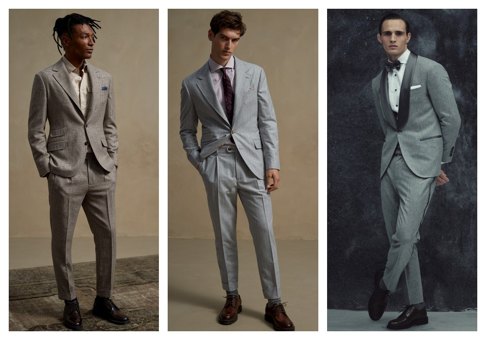full body shot of man model - Brunello Cucinelli 冬季男女装系列,开辟新风格织造时间的艺术!