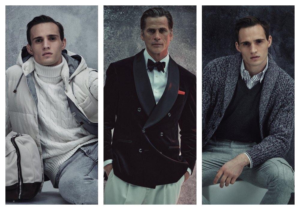 man modeling bust photo - Brunello Cucinelli 冬季男女装系列,开辟新风格织造时间的艺术!