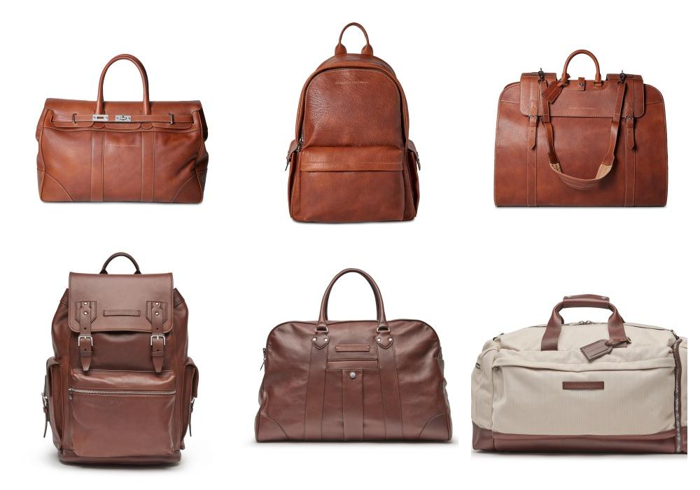men handbag - Brunello Cucinelli 冬季男女装系列,开辟新风格织造时间的艺术!