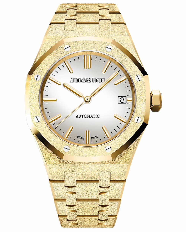 the audemars piguet carolina bucci special edition frosted gold royal oak - 男团BTS成员都爱哪些高级名表?