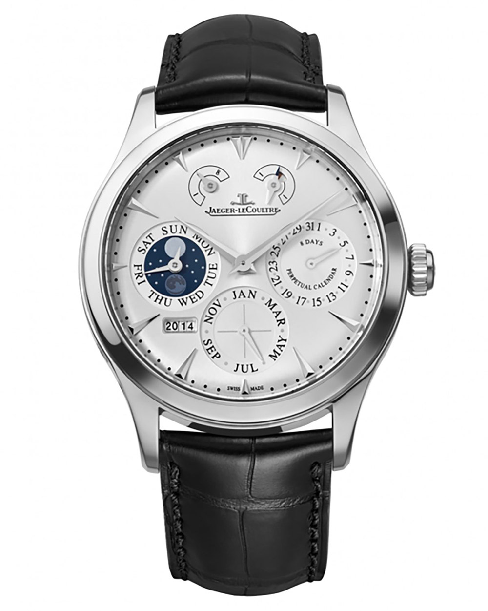 the jaeger lecoultre master eight days perpetual stainless steel watch - 男团BTS成员都爱哪些高级名表?