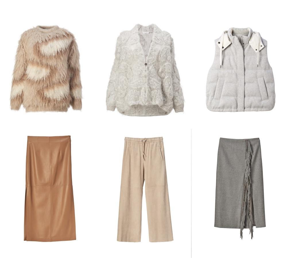 woman skirt and top - Brunello Cucinelli 冬季男女装系列,开辟新风格织造时间的艺术!