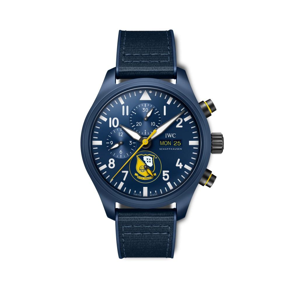 blue angels front - IWC SCHAFFHAUSEN 飞行员系列再添 3款全新陶瓷材质计时腕表!