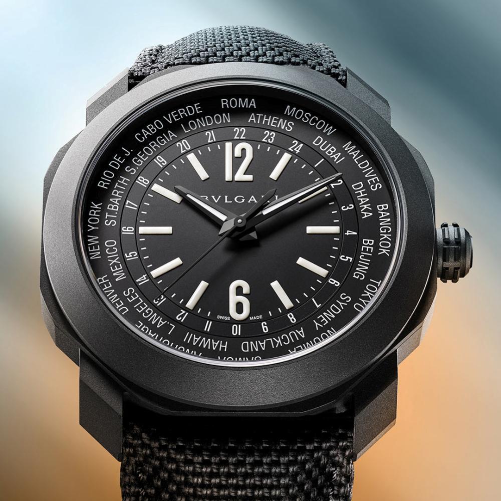 bvlgari octo roma worldtimer black - 一览 Geneva Watch Days 2021 最受瞩目的6款腕表