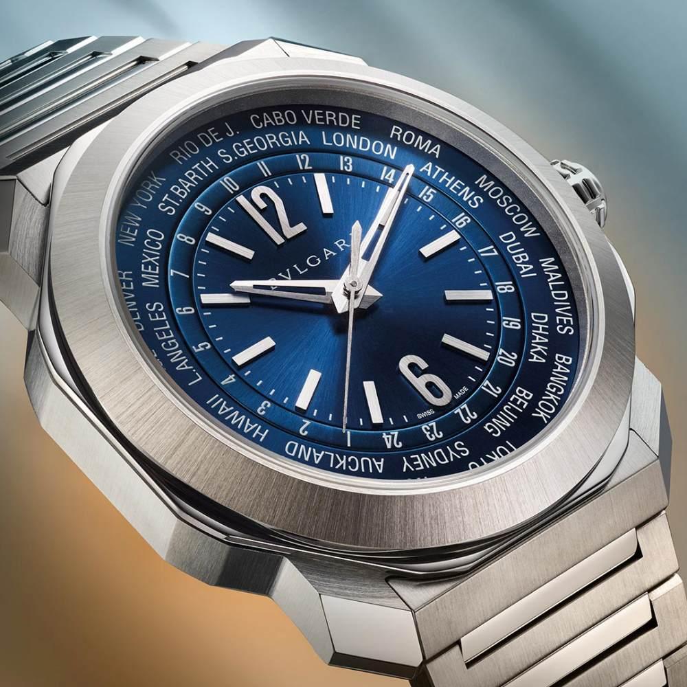 bvlgari octo roma worldtimer silver - 一览 Geneva Watch Days 2021 最受瞩目的6款腕表