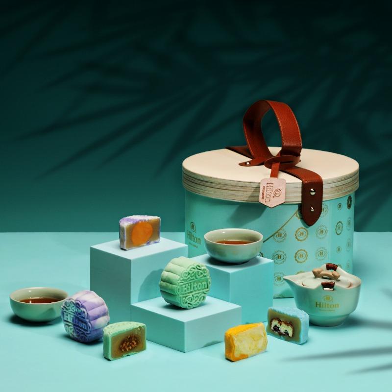 hilton kl hotel mooncake 2021 1 - 12款最适合商务送礼的高级月饼礼盒