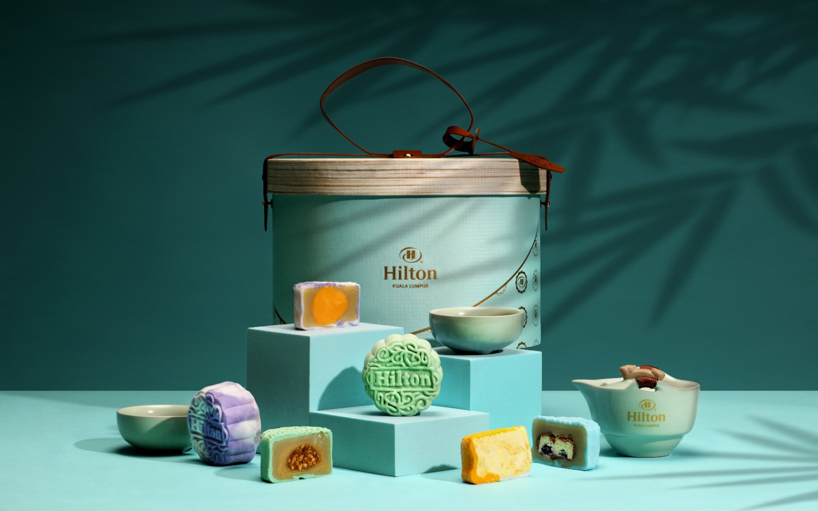 hilton kl hotel mooncake 2021 2 - 12款最适合商务送礼的高级月饼礼盒