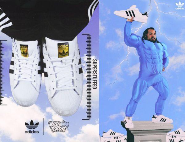 "kerwin frost adidas superstar superstuffed 2021 600x460 - Kerwin Frost x Adidas 推出极有创意的 ""SUPERSTUFFED ""小丑鞋!"