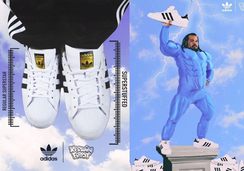 "kerwin frost adidas superstar superstuffed 2021 - Kerwin Frost x Adidas 推出极有创意的 ""SUPERSTUFFED ""小丑鞋!"