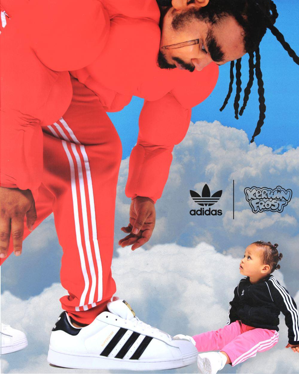 "kerwin frost big kid meets little kid - Kerwin Frost x Adidas 推出极有创意的 ""SUPERSTUFFED ""小丑鞋!"