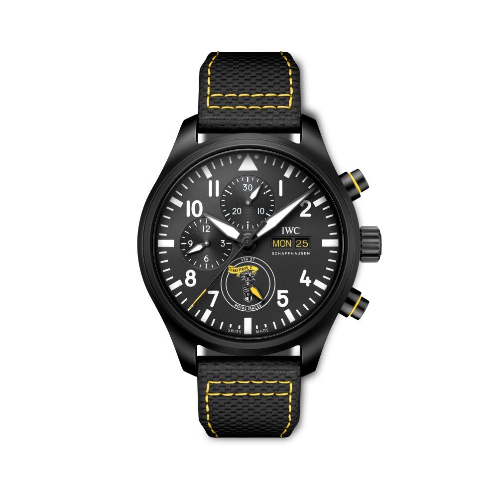 royal maces fornt - IWC SCHAFFHAUSEN 飞行员系列再添 3款全新陶瓷材质计时腕表!