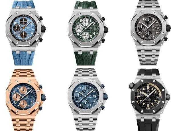 royal oak offshore six watches in one big picture 600x460 - Audemars Piguet 2021年最豪华腕表系列:Royal Oak Offshore
