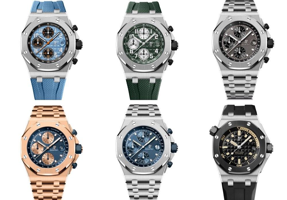 royal oak offshore six watches in one big picture - Audemars Piguet 2021年最豪华腕表系列:Royal Oak Offshore