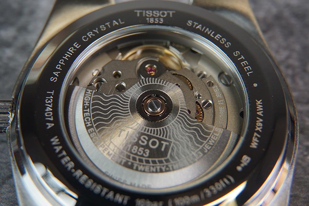 tissot prx powermatic 80 automatic close up - 编辑试戴   当红爆款 复古却酷炫的 Tissot PRX Powermatic 80