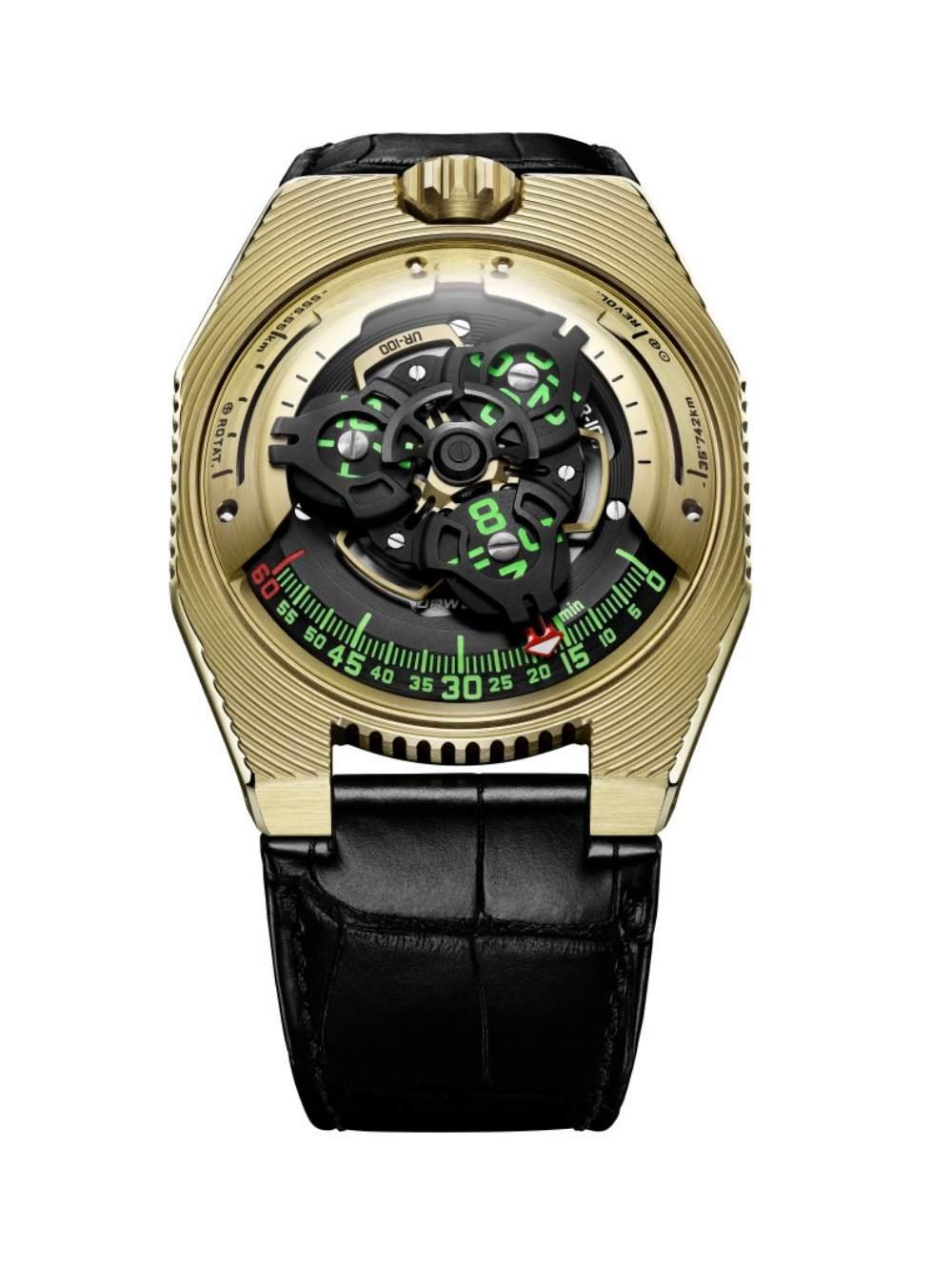urwerk ur 100 electrum all - 一览 Geneva Watch Days 2021 最受瞩目的6款腕表